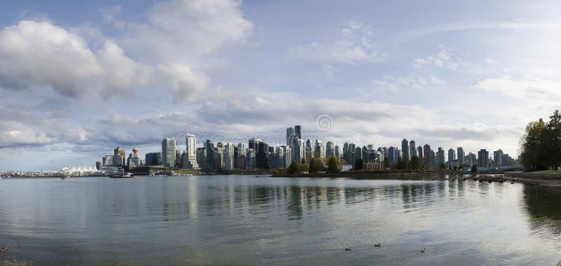 Härlig sikt av Vancouver horisont royaltyfri fotografi