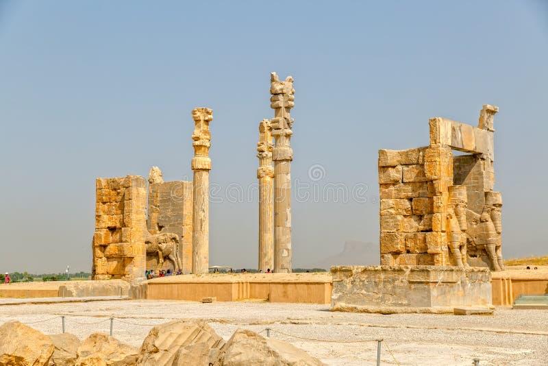 Härlig sikt för Persepolis port arkivfoto