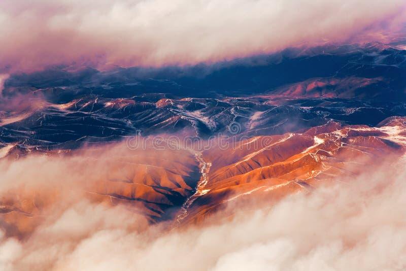 Härlig sikt från flygplanet royaltyfria bilder
