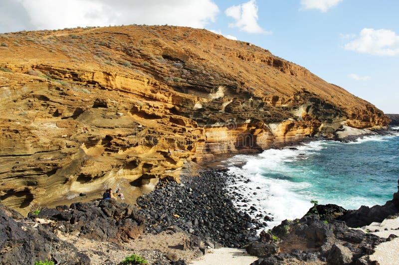 Härlig sikt på Costa del Silencio, Tenerife, Spanien, royaltyfri fotografi