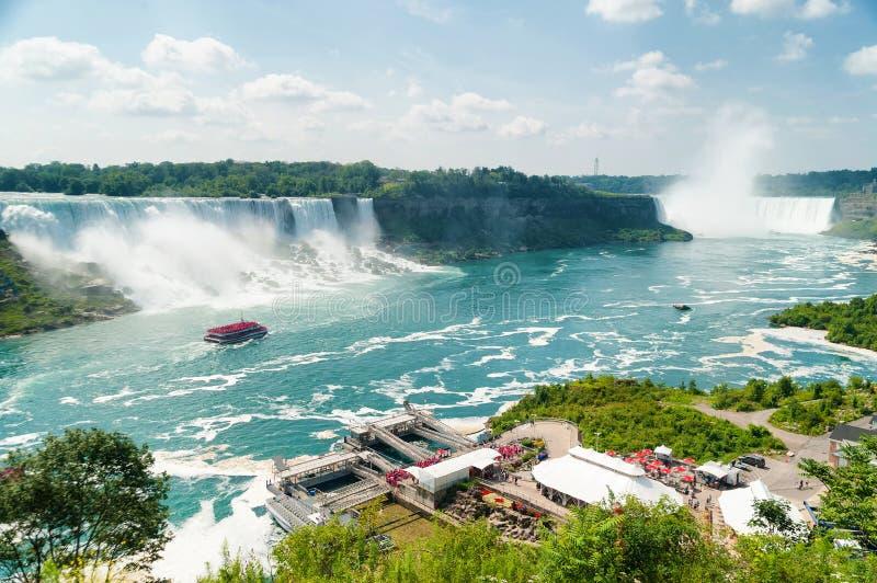 Härlig sikt på Niagara Falls arkivfoton