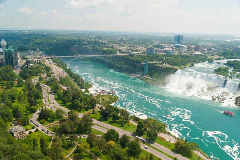 Härlig sikt på Niagara Falls royaltyfri bild