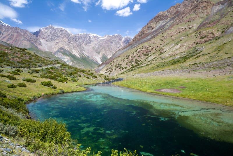 Härlig sjö i Tien Shan berg royaltyfria foton