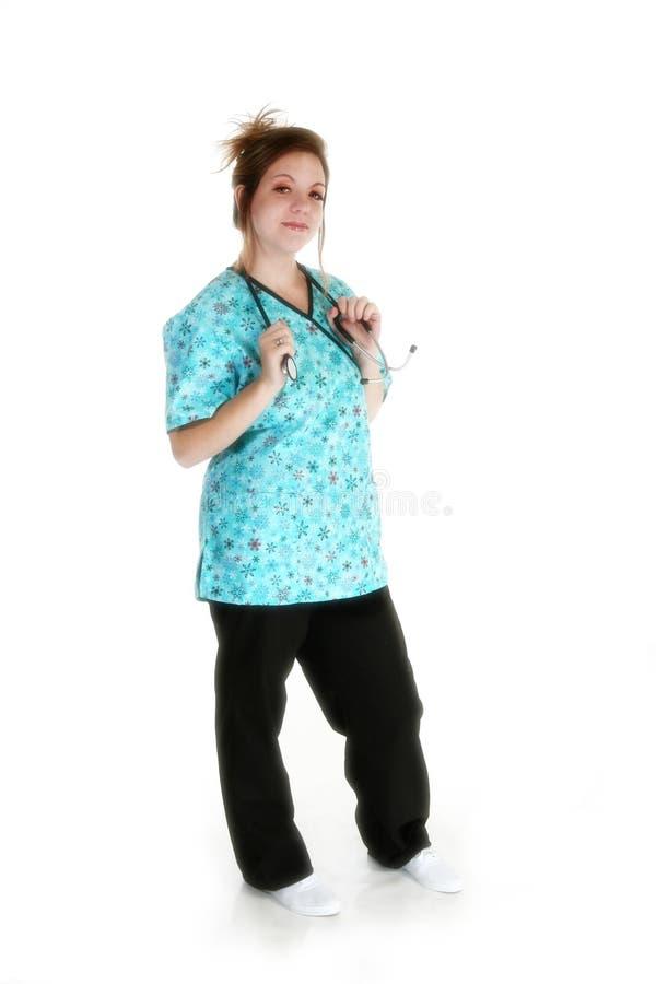 härlig sjuksköterska royaltyfria foton