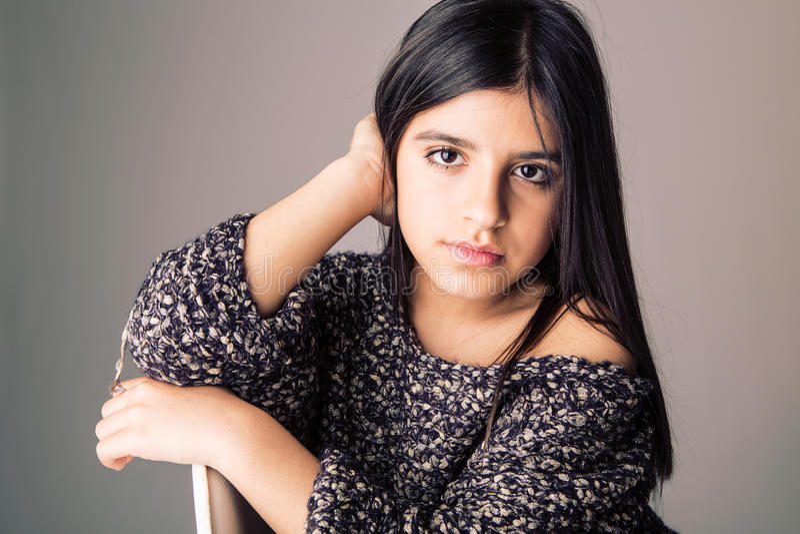härlig skönhet eyes den naturliga ståenden för flickamakeup royaltyfri fotografi