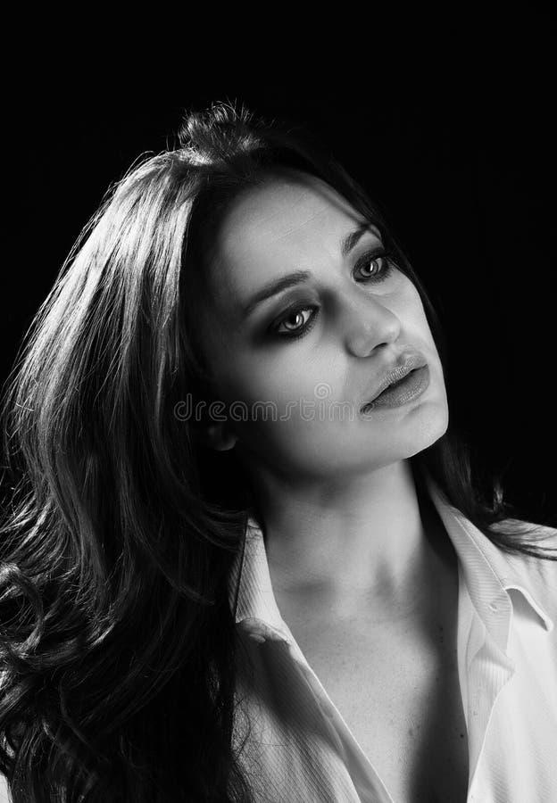 härlig skönhet eyes för naturståenden för makeup den naturliga kvinnan royaltyfri fotografi