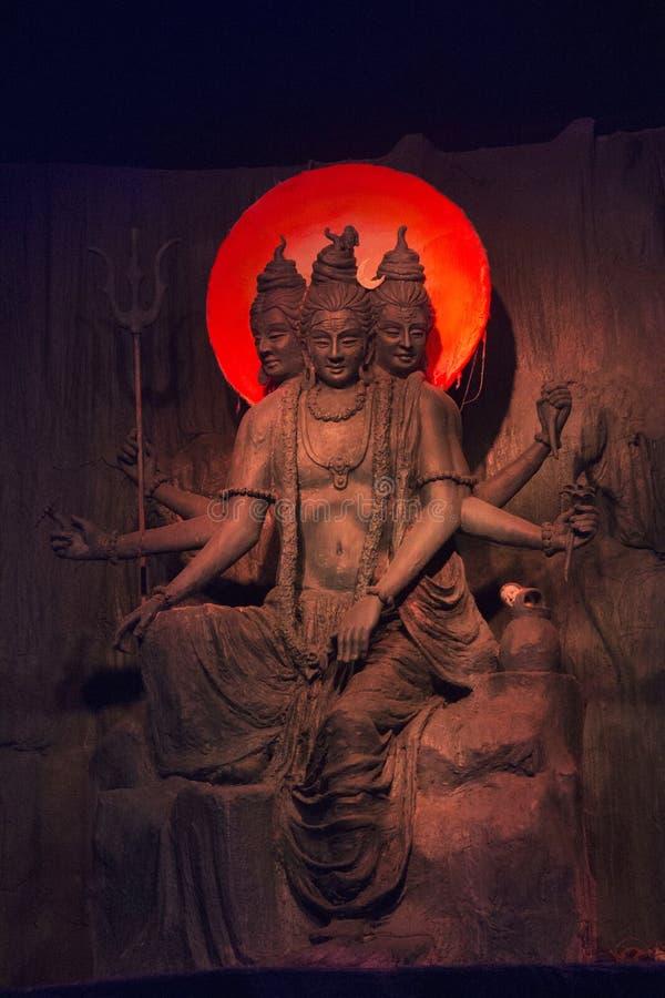 Härlig skulptur av Lord Dattatreya under den Ganpati festivalen, Pune royaltyfri bild