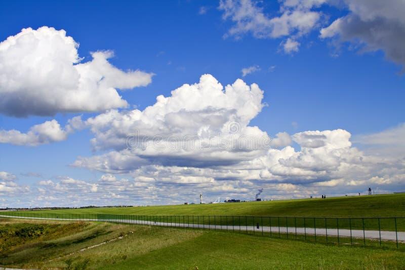 härlig skyscape royaltyfri fotografi