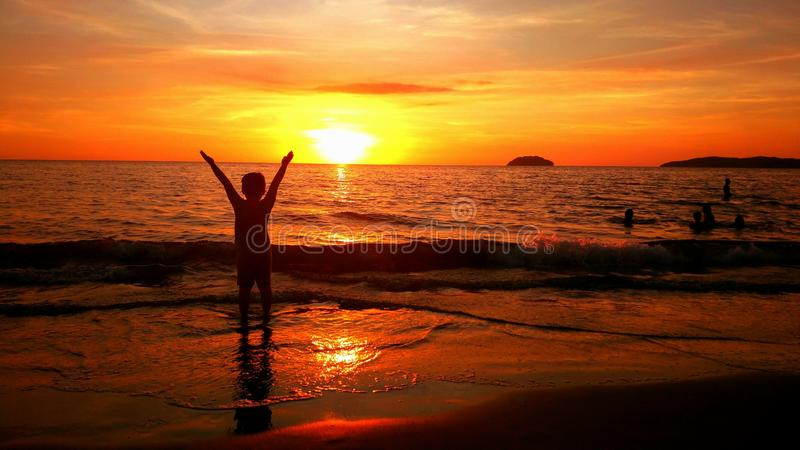 härlig solnedgång fotografering för bildbyråer