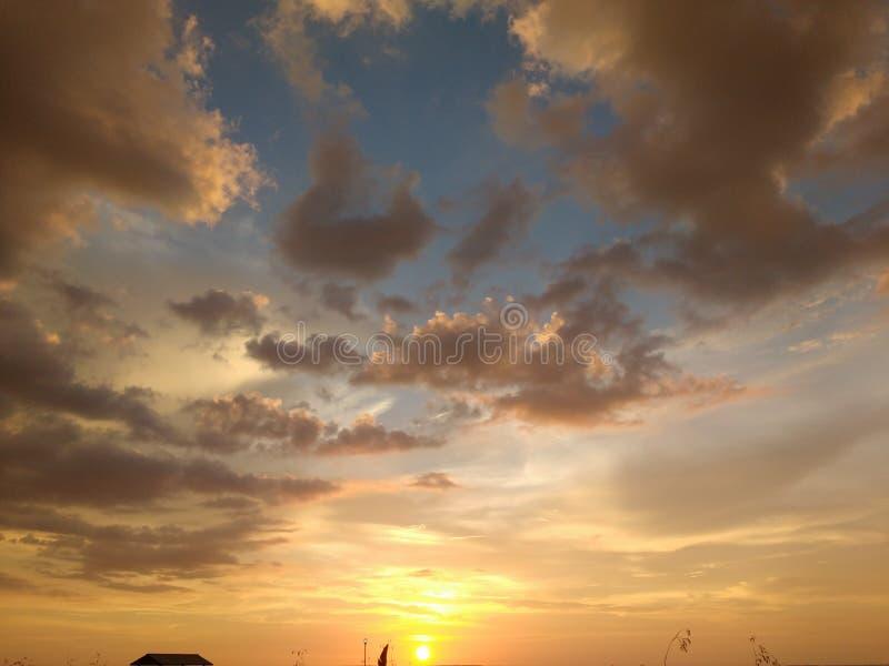 Härlig solnedgång! arkivfoto