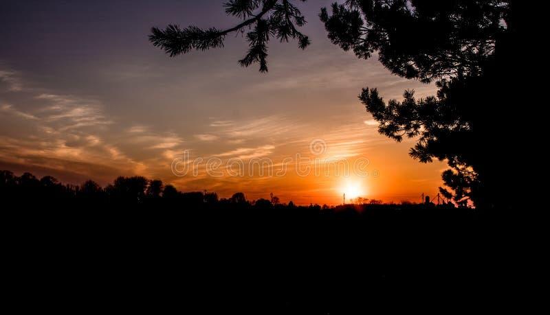 härlig solnedgång royaltyfria foton