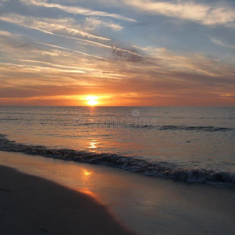 Härlig solnedgång i Clearwater, Florida royaltyfri bild