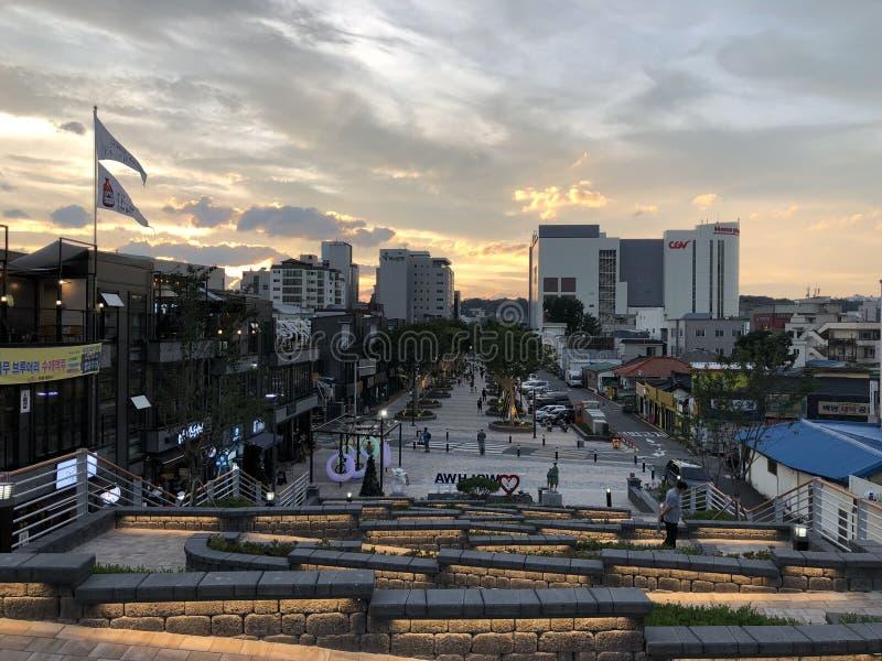 Härlig solnedgång i Sydkorea royaltyfri foto