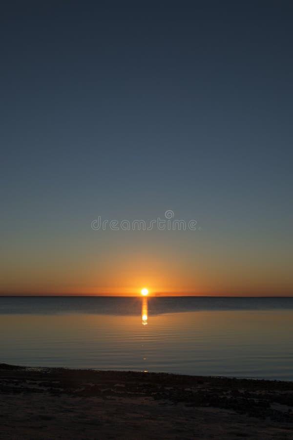 Härlig solnedgång, Mocambique arkivfoton