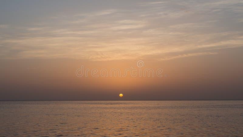 Härlig solnedgång på golf av Mexico fotografering för bildbyråer