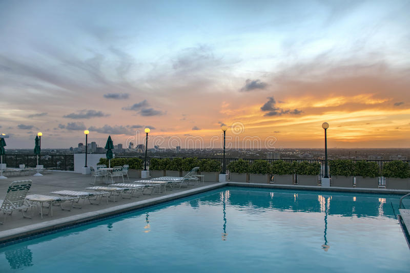 Härlig soluppgång över Fort Lauderdale, Florida royaltyfria foton
