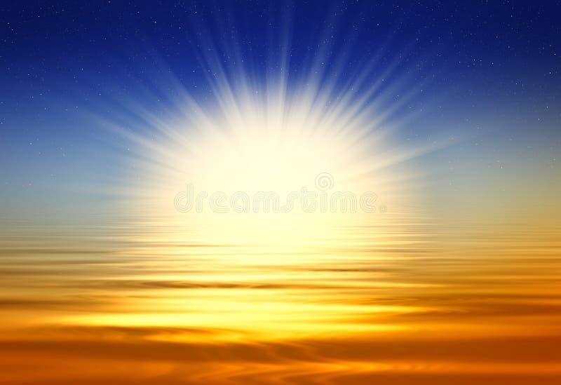 härlig soluppgång royaltyfri illustrationer