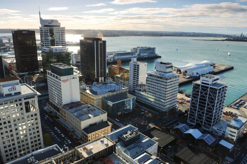 Härlig soluppgång i Auckland, Nya Zeeland arkivfoton