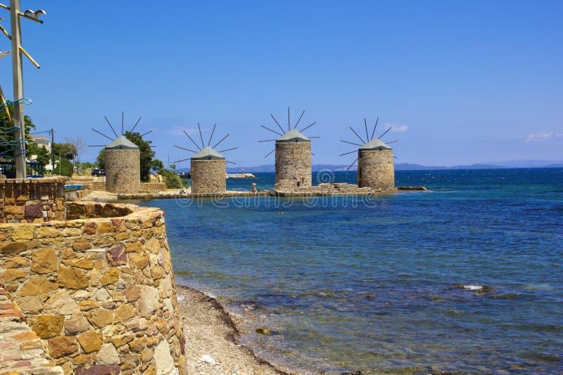 Härlig sommarplats i den Chios ön royaltyfri bild