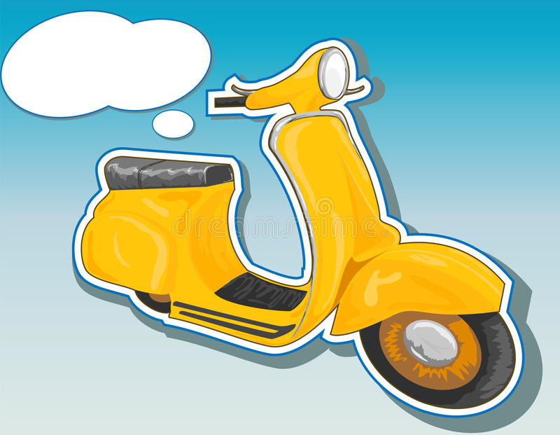 härlig sparkcykel royaltyfri illustrationer