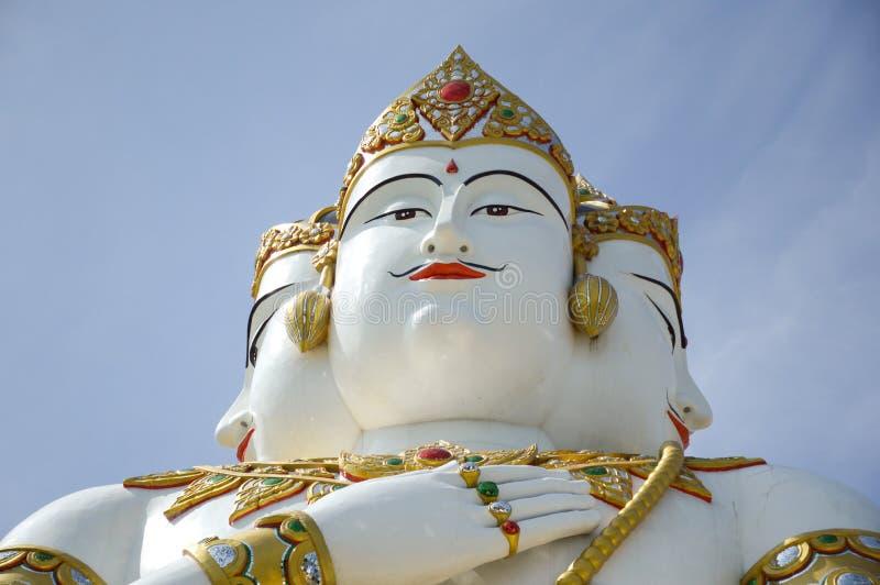 Härlig stor vit staty av brahmaen fotografering för bildbyråer