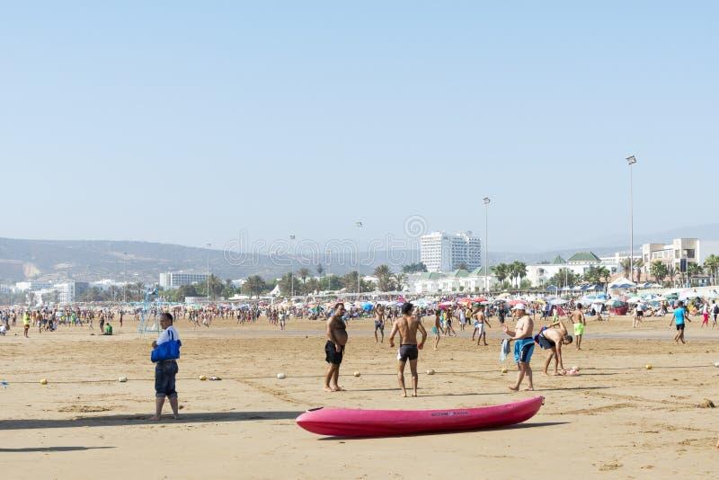 Härlig strand i Agadir arkivbild