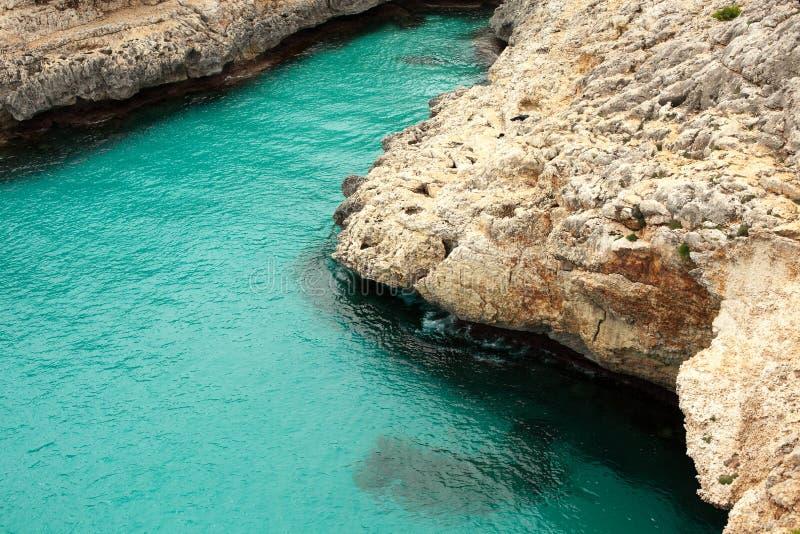 Härlig strand i Mallorca, Spanien ferier Sommar arkivfoton