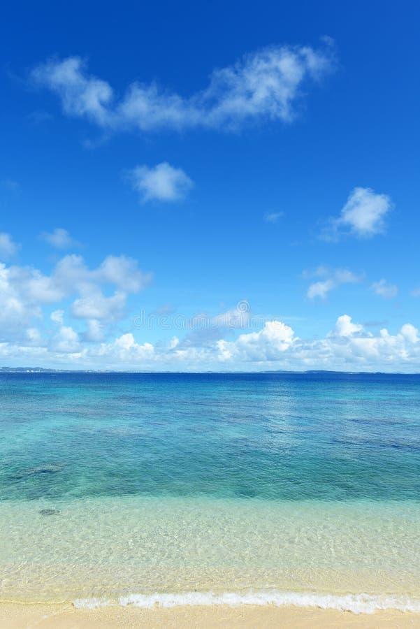 Härlig strand i Okinawa arkivfoto
