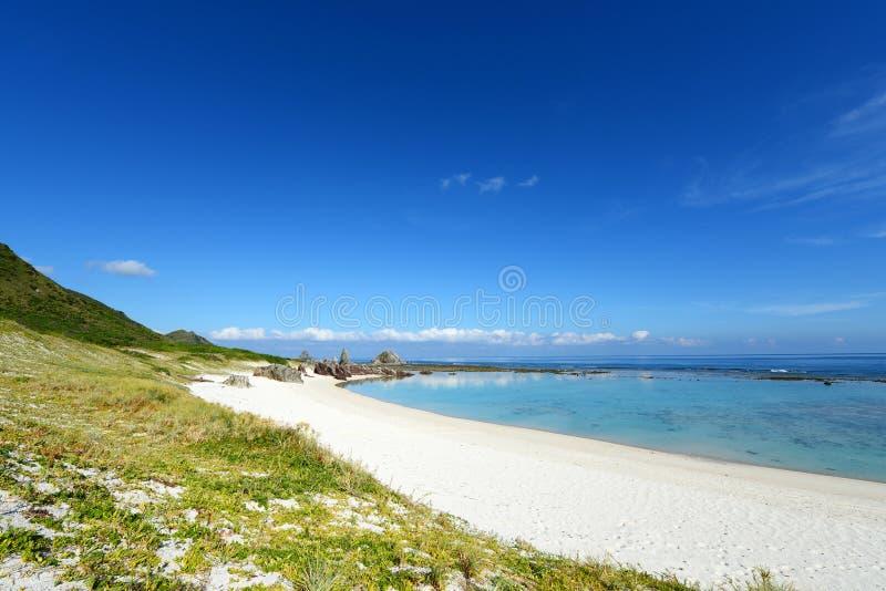Härlig strand i Okinawa royaltyfria foton