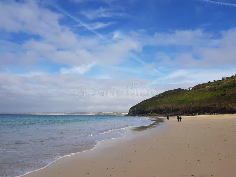 Härlig strand i St Ives i Cornwall fotografering för bildbyråer