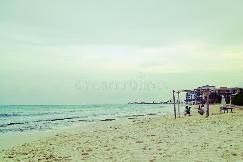 Härlig strand, Maya riviera royaltyfria foton