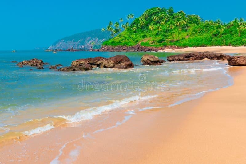 härlig strand mest royaltyfria foton