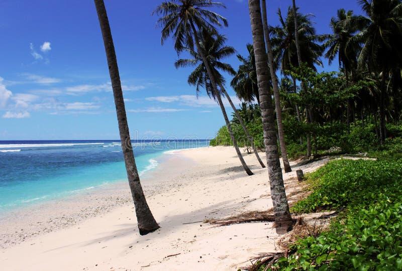 Härlig strand någonstans i Indonesien fotografering för bildbyråer