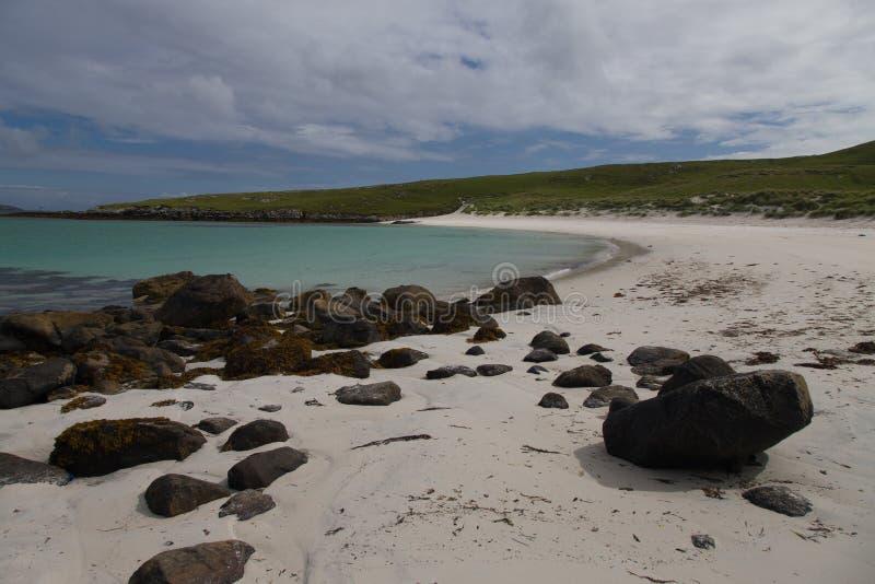 Härlig strand på islen av Barra arkivfoton