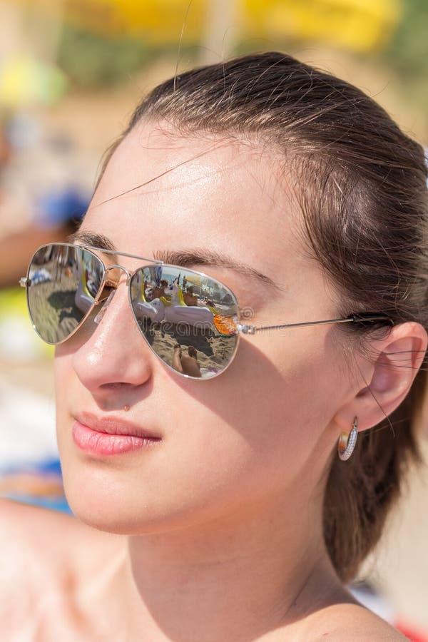 Härlig strandBabe royaltyfria foton