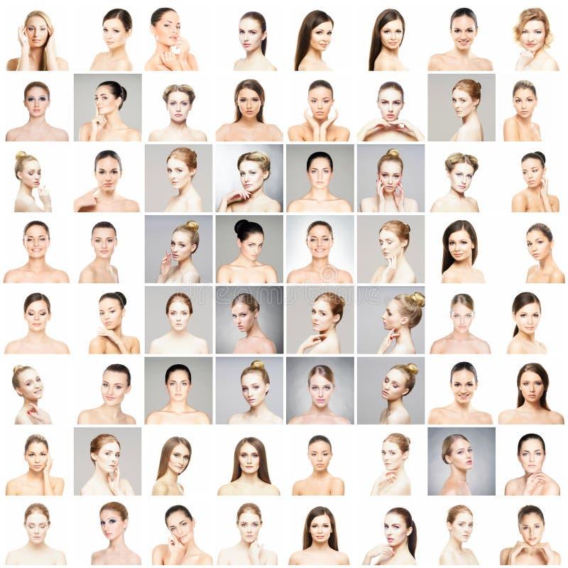 Härlig, sund och ung kvinnlig ståendesamling fotografering för bildbyråer