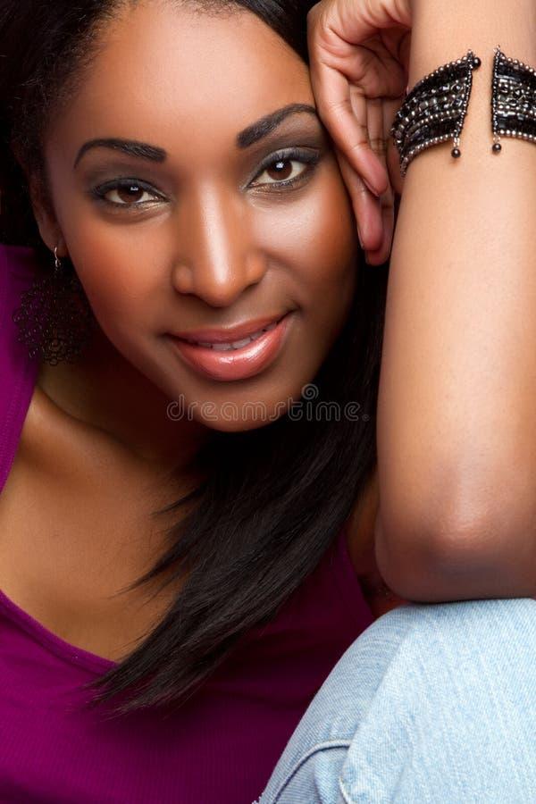härlig svart kvinna royaltyfria foton