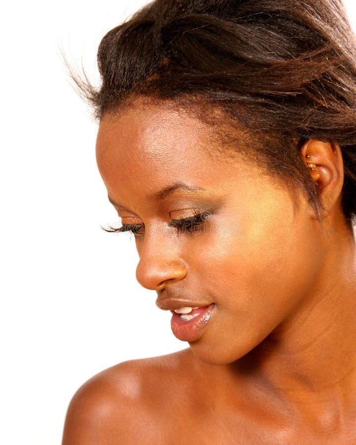 härlig svart kvinna arkivfoton