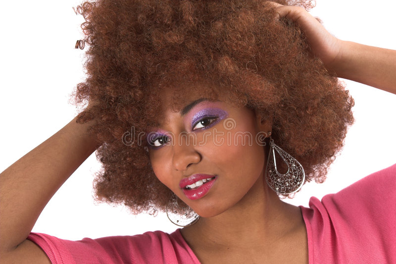 härlig svart kvinna royaltyfria bilder