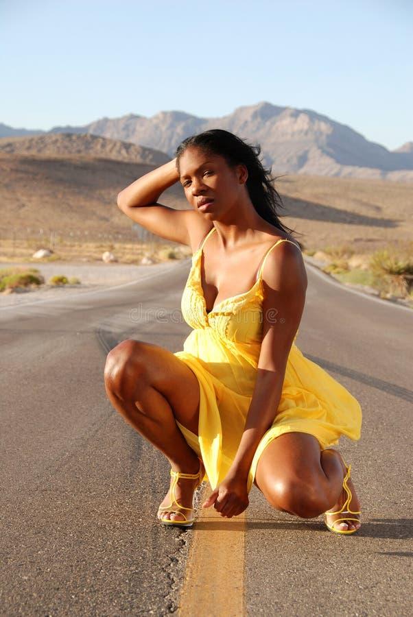 härlig svart kvinna arkivfoto