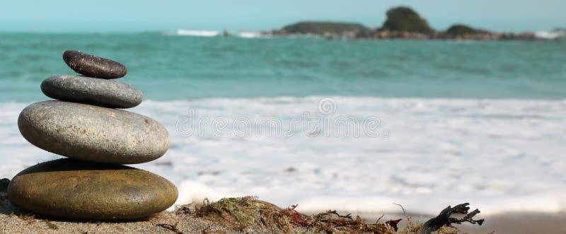 Härlig sydlig kust- dag i Nya Zeeland arkivbild