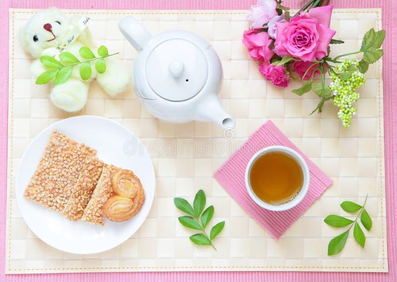 härlig teatid för eftermiddag arkivfoto