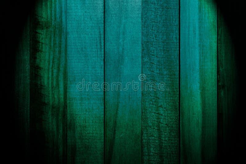 Härlig textur av slats av naturligt trä av mörkt - turkos för grön färg arkivfoton