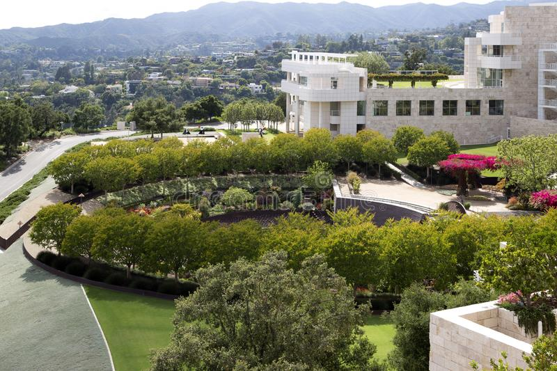 Härlig trädgård i änglar CA för Getty mittLos arkivfoton