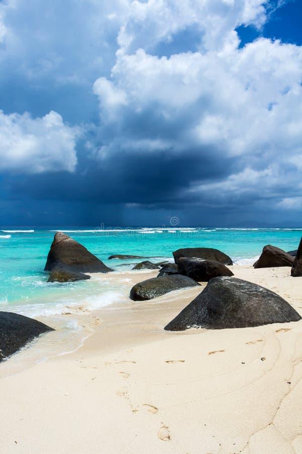 Härlig tropisk strand royaltyfria bilder