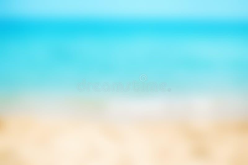 Härlig tropisk strand för abstrakt suddighet och havslandskap för bac fotografering för bildbyråer