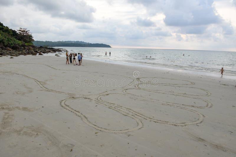 Härlig tropisk strand på den Koh Kood ön i Thailand arkivfoto