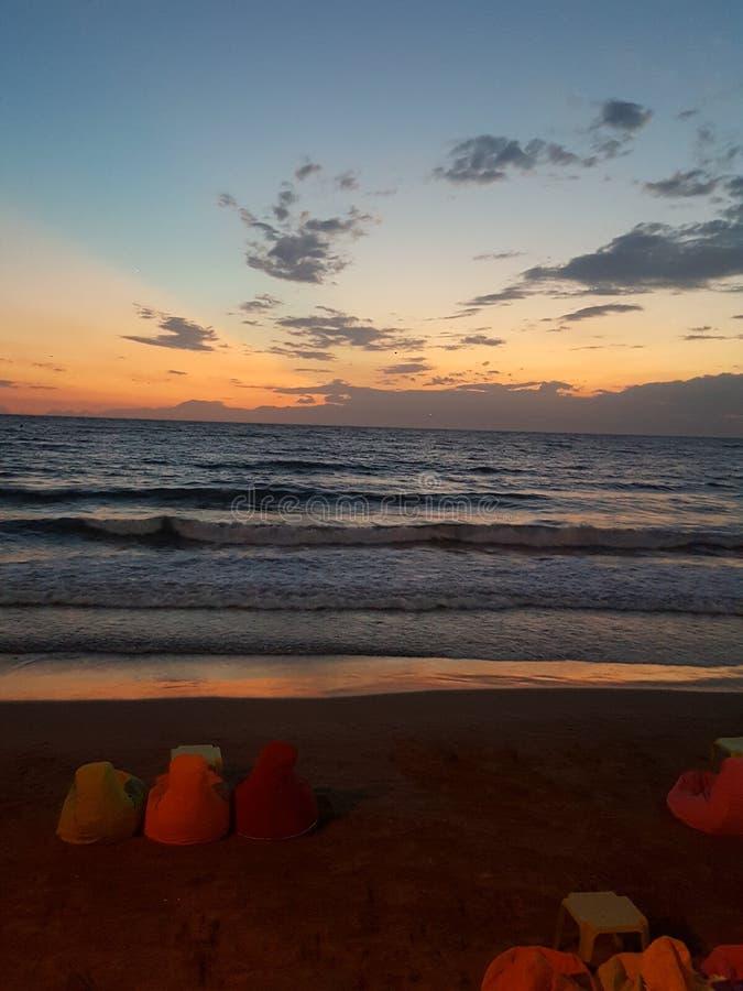 Härlig turkisk solnedgång arkivfoto