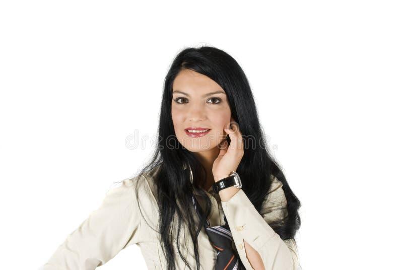 Härlig ung affärskvinna arkivbilder