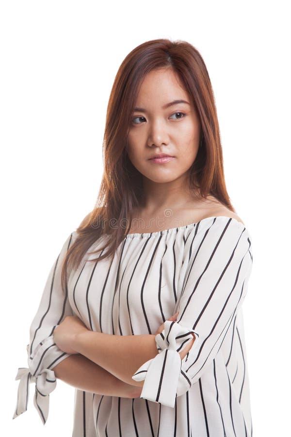 Härlig ung asiatisk kvinna royaltyfri bild